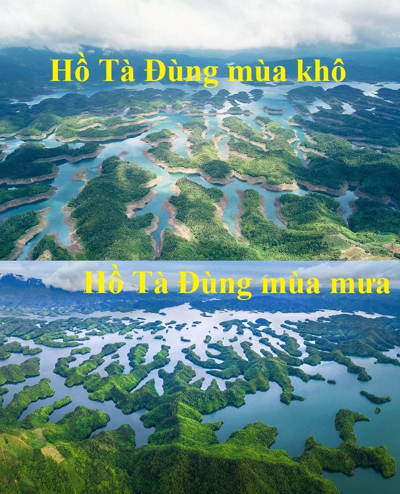 Du lịch Hồ Tà Đùng mùa nào, tháng mấy đẹp nhất? Nên đi hồ Tà Đùng khi nào?