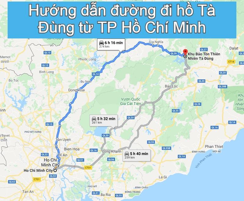 Hướng dẫn đường đi du lịch Hồ Tà Đùng. Hồ Tà Đùng ở đâu, cách di chuyển tới hồ Tà Đùng?