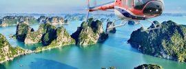 Kinh nghiệm đi trực thăng ngắm vịnh Hạ Long từ trên cao