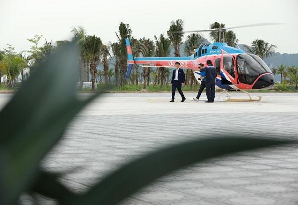 Hướng dẫn ngắm cảnh Hạ Long bằng trực thăng, Khu vực đỗ của trực thăng Tuần Châu