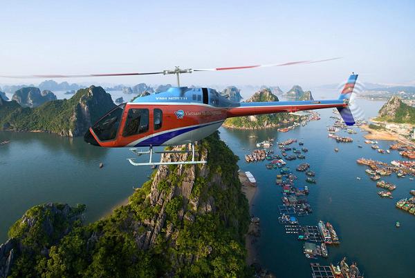 Trực thăng ngắm vịnh Hạ Long có gì nổi bật?