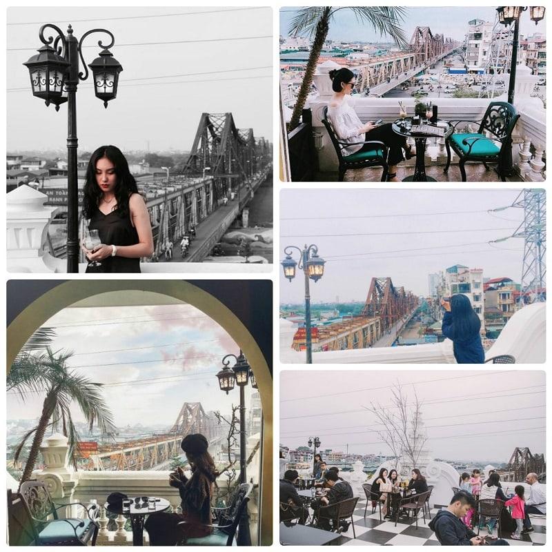 Quán cafe trên cao ở Hà Nội view cầu Long Biên, Serein Cafe
