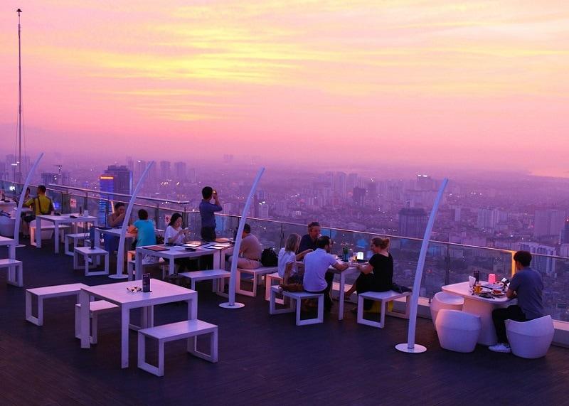 Top of Ha Noi, quán cafe trên cao ở Hà Nội sang chảnh nhất
