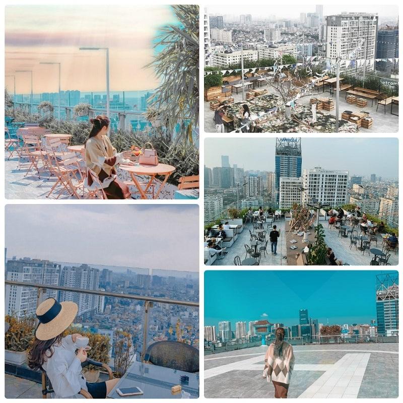 Quán cafe trên cao ở Hà Nội nổi tiếng nhất, Trill Rooftop Cafe