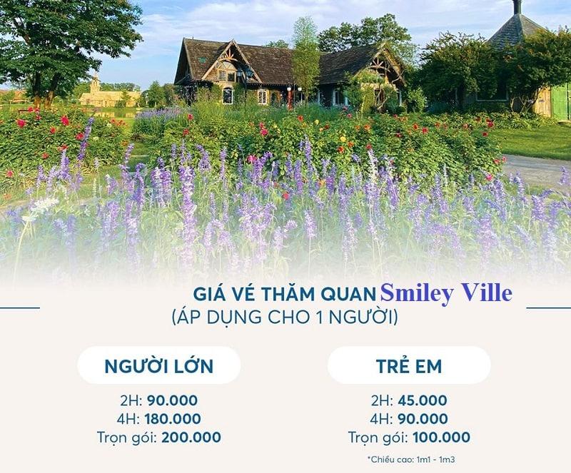 Giá vé tham quan, vào cổng phim trường Smiley Ville Đông Anh