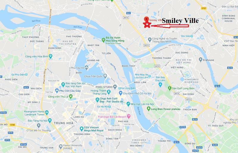 Vị trí, địa chỉ, hướng dẫn đường đi phim trường Smiley Ville Đông Anh Hà Nội