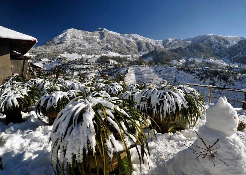 Khung cảnh đẹp ở Sapa mùa đông