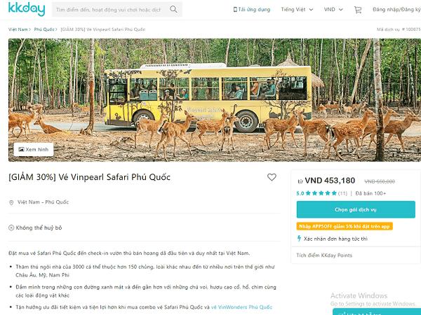 [GIẢM 30%] Vé Vinpearl Safari Phú Quốc tại KKday