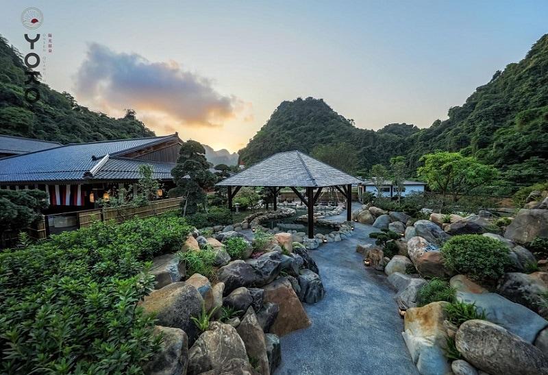 Suối khoáng nóng QUang Hanh có gì đẹp? Khu vườn Nhật ở Yoko Onsen Quang Hanh