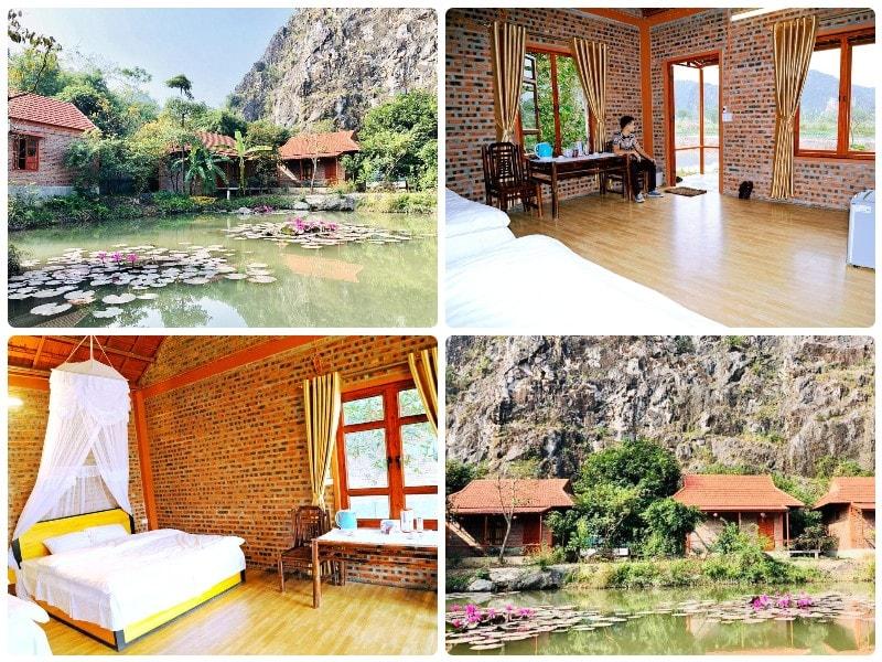 Homestay ở Ninh Bình view đẹp, Tràng An Lotus Lake Homestay