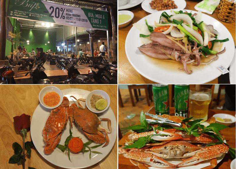 Nhà hàng hải sản ở Phú Quốc, nhà hàng hải sản Búp