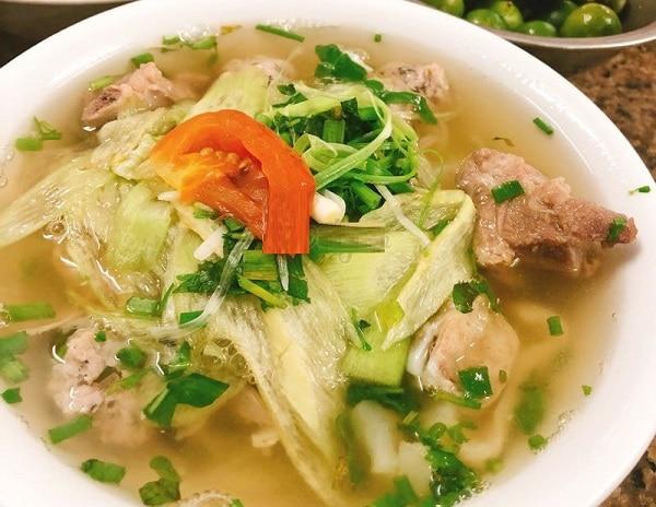 Quán ăn ngon Hà Nội, quán bún sườn chua Xã Đàn