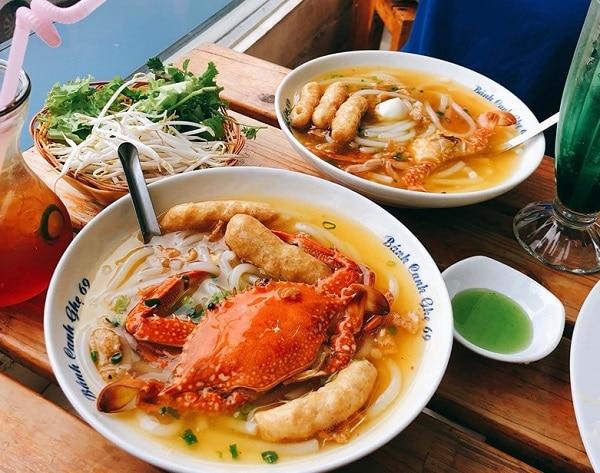 Các quán ăn ngon ở Hà Nội, bánh canh ghẹ 69