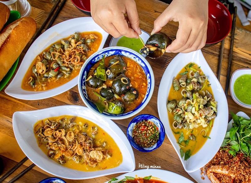 Quán ăn ngon ở Đà Nẵng, quán ốc Cô Ba